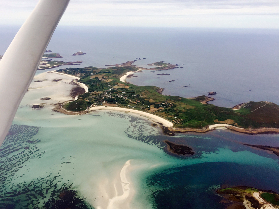 Isles of Scilly from a Cessna 152