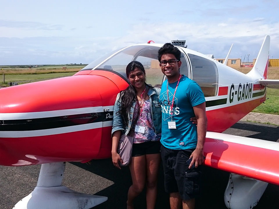 Happy customers after a Trial Flight Experience in the Robin DR400