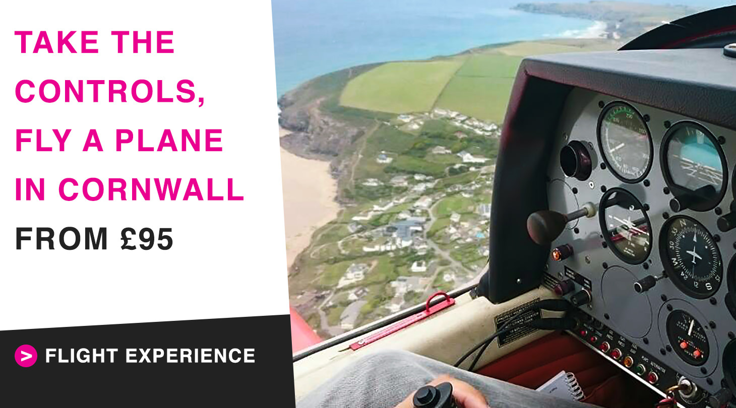 Take control and fly a plane over Cornwall