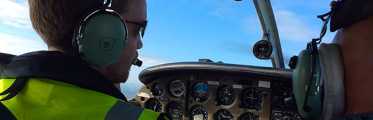 First Flying Lesson in the Piper PA28 over Cornwall