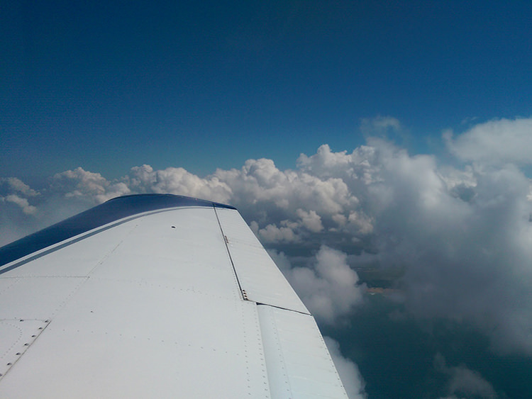 Flying above the clouds in Cornwall for the EASA Restricted Instrument Rating - IR(R)